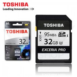 Toshiba Exceria 95MB/S - 75MB/S, 32 GIGAS