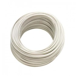 Cable 2X24 Blanco Rollo 100MTS