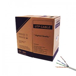 UTP CAT5E UNIFILAR 305 MT BLANCO 100% CU