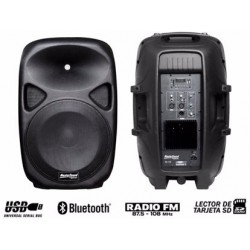 Parlante Activo De 120 W Rms Con Reproductor Mp3, Bluetooth