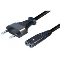 Cable de poder 1.5mt, color negro