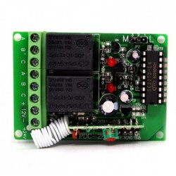 RECEPTOR 433Mhz 2 CANAL 200 USUARIOS LEARNING CODE