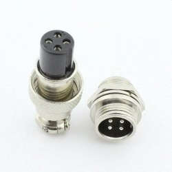 Pack 3 Unidades Conector 4-Pin 12mm Macho y Hembra